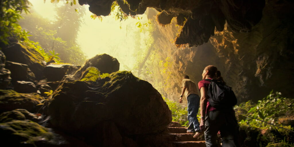 Explore caves in Belize