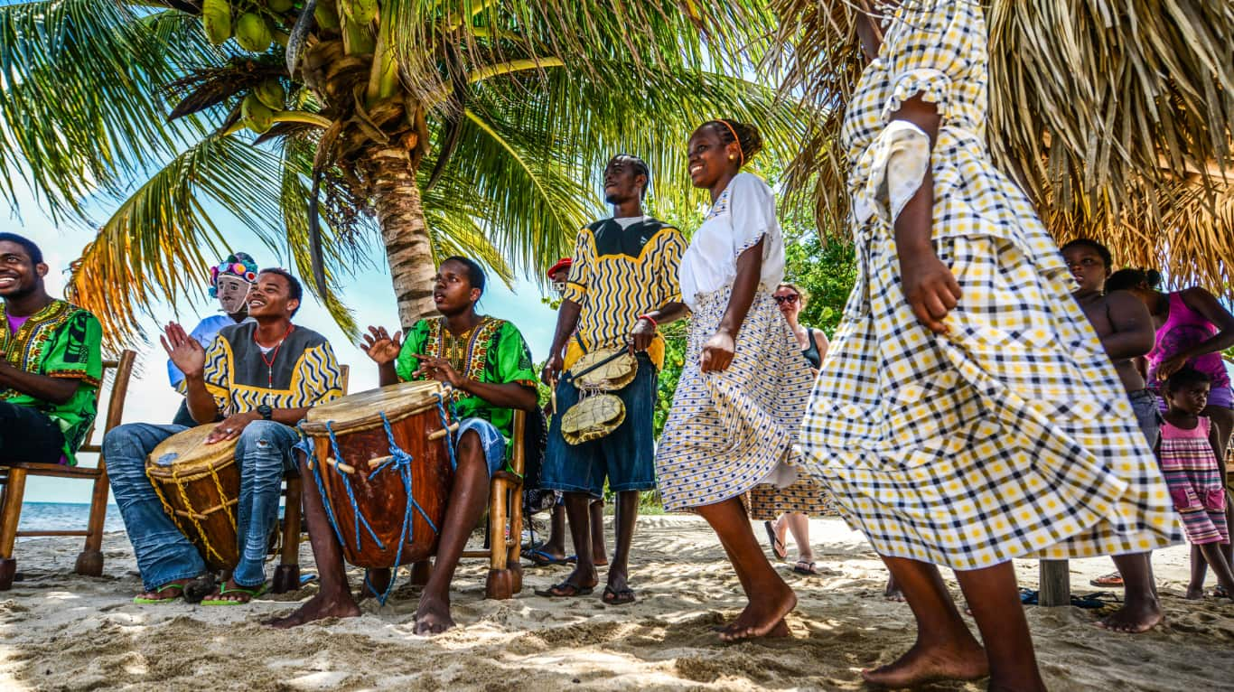 Drumming on the beach